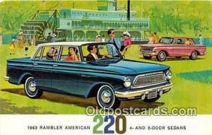 Postcard Post Card 1963 Rambler American 220 4 & 2 Door Sedans