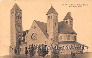Churches Vintage Postcard Ann Arbor, Michigan, USA Vintage Postcard St Thomas...