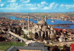 Turkey The mosque of Soliman the Magnificent and the Golden Horn