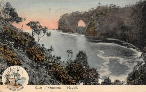 LP15   Hawaii Cave Onomea Postcard South Seas Curio
