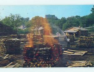 Pre-1980 CHARCOAL AT JACK DANIELS DISTILLERY Lynchburg - By Nashville TN hn3703