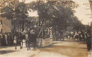 F15/ Parade Real Photo RPPC Postcard c1910 Sunflower Orchestra Float 2