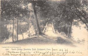 Bridgeport Connecticut~Rustic Bridge Beardsley Park~1906 Postcard