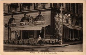 CPA  Nancy - Un coin de la Place Stanislas - Grand Cafe du Commerce  (386120)