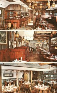 Vintage Postcard The County Tavern Restaurant Dining Cocktail Lounge Stamford CT