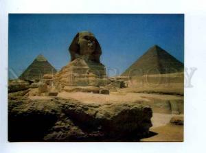 179461 EGYPT Pytamids Sphinx Giza old 3-D postcard