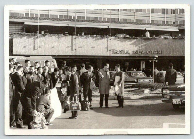 Tokyo JP~Hotel New Otani~Jet Age Bus~Businessmen w/Ribbons~FLAG~Photo 1960s Cars