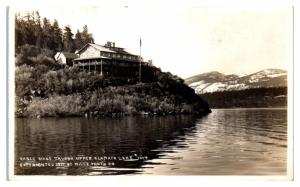 RPPC Eagle Ridge Tavern, Upper Klamath Lake, OR Real Photo Postcard