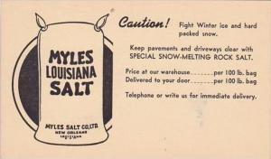 Louisiana New Orleans Myles Louisiana Salt