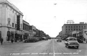 Douglas Arizona~9th Ave South @ Old Mexico~Grand Theatre~Classic Cars~1944 RPPC