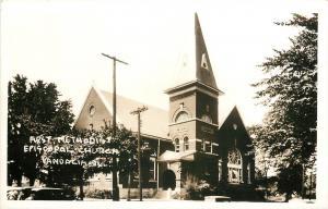 Vandalia Il~First United Methodist Episcopal Church~Real Photo Postcard 1940s