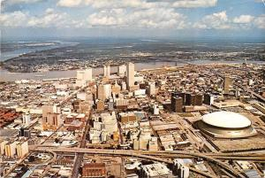 Louisiana, New Orleans, aerial view of downtown, Crescent City skyline