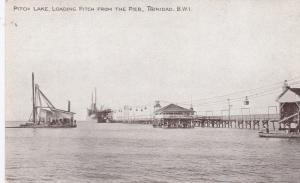 TRINIDAD, 00-10s; Pitch Lake , Loading Pitch from the Pier
