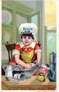 VICTORIAN TRADE CARD, IVORINE SOAP