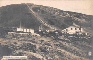 Mount Vesuvius Vesuvio Italy Funicular Station Real Photo Postcard J58160