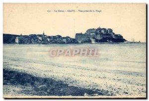 Corsica - Upper Corsica - Corsica - Calvi - View from the Beach - Old Postcard