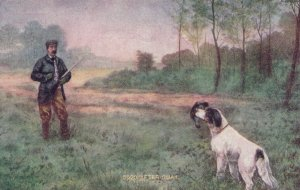 Quail Hunter & dog , 1900-10s