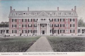 HANOVER, New Hampshire, 1900-1910's; Middle Massachusetts Hall, Dartmouth Col...