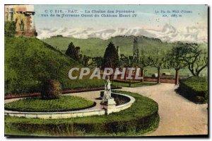 Old Postcard Pau The Chaies the Pyrenees