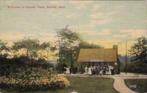 Michigan Detroit Entrance To Palmer Park