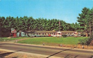 Raymond ME Dumar Lodge Motel Old Cars Postcard