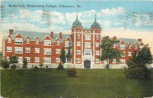 Allentown Pennsylvania~Muhlenber College Berks Hall~1912 Postcard