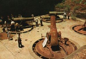 Vintage Postcard 1967 Giant 12in Mortar Relics Seen on the Rock Corregidor PH