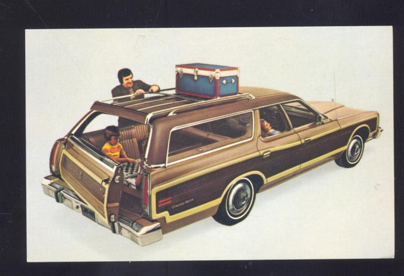 1974 FORD COUNTRY SQUIRE STATION WAGON '74 CAR DEALER ADVERTISING POSTCARD