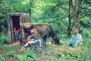 Hillbilly Livin' In The Ozarks Missouri Comedy Chrome Vintage Postcard