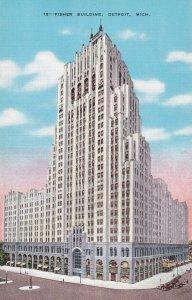 DETROIT , Michigan, 1930-40s ; Fisher Building