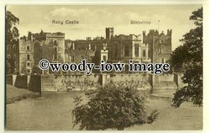 tp0591 - Durham - Raby Castle and River/Moat, at Staindrop - postcard
