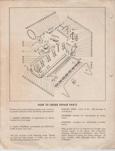 Ward's Sickle Bar Mower Attachment Instructions & Parts List Hoe Plow Chor Trac