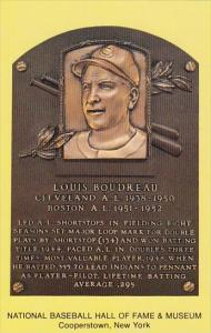 Louis Bounreau National Baseball Hall Of Fame & Museum Cooperstown New York