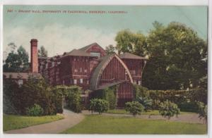 Hearst Hall University of California Berkeley UCB California Antique Postcard