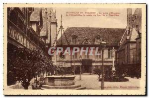Postcard Old Hospices de Beaune The Honor Court Hotel Dieu