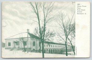 Davenport Iowa~Rock Island Arsenal~Water Power Plant~c1905 B&W Postcard