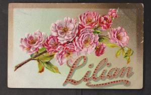 General Greetings - Embossed Flowers Personalized - Used c1910 - Stamp Missing