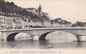GRENOBLE , France , 00-10s ; Le Pont de l'Hopital et le Quartier Saint-Laurent