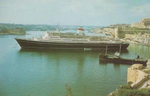 Taras Shevchenko Russian Liner Ship CTC Lines Ensignia Rare  Postcard