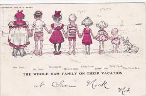 Humour The Whole Dam Family On Vacation 1905
