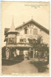 Haus Des Christusdarstellers Anton Lang, Oberammergau 1910