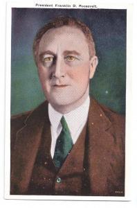 FDR Franklin D. Roosevelt President Vintage Postcard Reynold