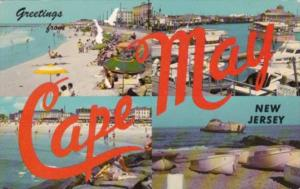 New Jersey Greetings From Cape May Multi Views 1968