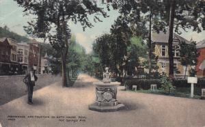 Promenade and Fountain on Bath House,  Hot Springs,  Arkansas,  00-10s