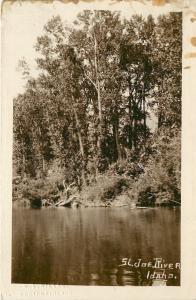 St Joe River Idaho~Sepia 1915 Real Photo Postcard~RPPC