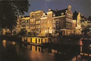 Netherlands Amsterdam House Boats In The Herengracht