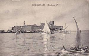 Sailboats, Chateau D'If, Marseille (Bouches-du-Rhône), France, 1900-1910s