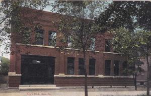 Boy's Club, ERIE, Pennsylvania, 1909