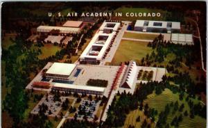COLORADO SPRINGS, CO ~ US AIR ACADEMY MODEL   1956  Architects  Postcard