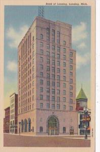 Michigan Lansing The Bank Of Lansing 1950 Curteich